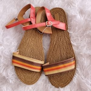 Boho Chic Women's Earthtone Sandals  Sizes 8 & 10